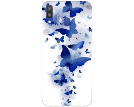 Husa Silicon Soft Upzz Print Samsung Galaxy M20 Model Blue Butterflies