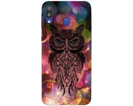 Husa Silicon Soft Upzz Print Samsung Galaxy M20 Model Sparkle Owl