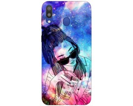 Husa Silicon Soft Upzz Print Samsung Galaxy M20 Model Universe Girl