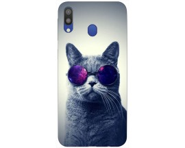 Husa Silicon Soft Upzz Print Samsung Galaxy M20 Model Cool Cat