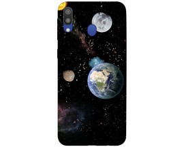 Husa Silicon Soft Upzz Print Samsung Galaxy M20 Model Earth