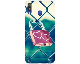 Husa Silicon Soft Upzz Print Samsung Galaxy M20 Model Heart Lock