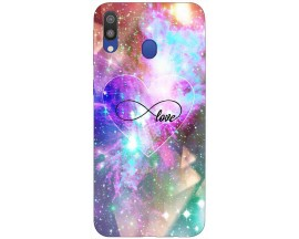 Husa Silicon Soft Upzz Print Samsung Galaxy M20 Model Neon Love
