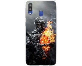Husa Silicon Soft Upzz Print Samsung Galaxy M20 Model Soldier