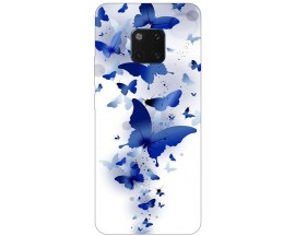 Husa Silicon Soft Upzz Print Huawei Mate 20 Pro Model Blue Butetrflies
