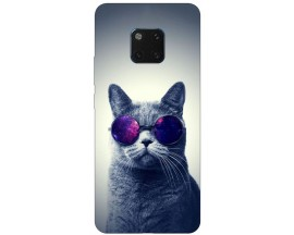 Husa Silicon Soft Upzz Print Huawei Mate 20 Pro Model Cool Cat