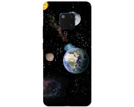 Husa Silicon Soft Upzz Print Huawei Mate 20 Pro Model Earth