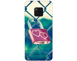 Husa Silicon Soft Upzz Print Huawei Mate 20 Pro Model Heart Lock