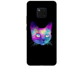 Husa Silicon Soft Upzz Print Huawei Mate 20 Pro Model Neon Cat