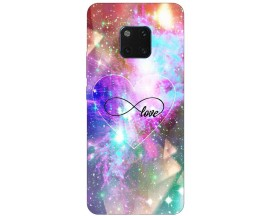 Husa Silicon Soft Upzz Print Huawei Mate 20 Pro Model Neon Love