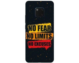Husa Silicon Soft Upzz Print Huawei Mate 20 Pro Model No Fear