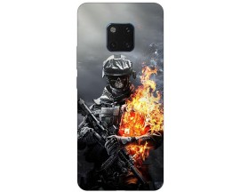 Husa Silicon Soft Upzz Print Huawei Mate 20 Pro Model Soldier