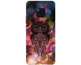 Husa Silicon Soft Upzz Print Huawei Mate 20 Pro Model Sparkle Owl