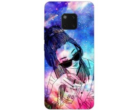 Husa Silicon Soft Upzz Print Huawei Mate 20 Pro Model Universe Girl