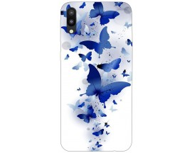 Husa Silicon Soft Upzz Print Samsung Galaxy M10 Model Blue Butterflies
