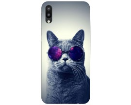 Husa Silicon Soft Upzz Print Samsung Galaxy M10 Model Cool Cat