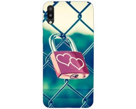 Husa Silicon Soft Upzz Print Samsung M10 Model Heart Lock