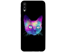 Husa Silicon Soft Upzz Print Samsung Galaxy M10 Model Neon Cat