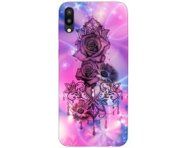 Husa Silicon Soft Upzz Print Samsung M10 Model Neon Rose
