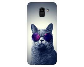 Husa Silicon Soft Upzz Print Samsung J6 2018 Model Cool Cat