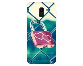 Husa Silicon Soft Upzz Print Samsung J6 2018 Model Heart Lock