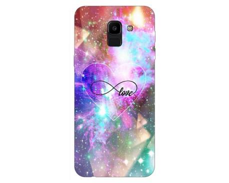 Husa Silicon Soft Upzz Print Samsung J6 2018 Model Neon Love