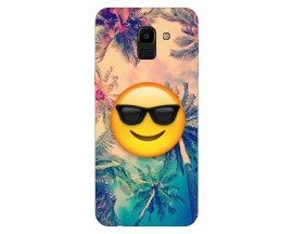 Husa Silicon Soft Upzz Print Samsung J6 2018 Model Smile