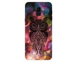 Husa Silicon Soft Upzz Print Samsung J6 2018 Model Sparkle Owl