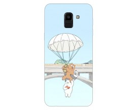 Husa Silicon Soft Upzz Print Samsung J6 2018 Model Three Bears