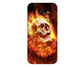 Husa Silicon Soft Upzz Print Samsung A5 2017 Model Flame Skull