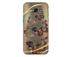 Husa Silicon Soft Upzz Print Samsung A5 2017 Model Golden butterfly