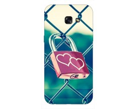 Husa Silicon Soft Upzz Print Samsung A5 2017 Model Heart Lock