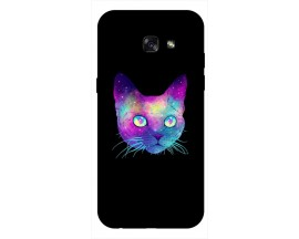 Husa Silicon Soft Upzz Print Samsung A5 2017 Model Neon Cat