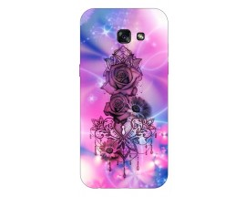 Husa Silicon Soft Upzz Print Samsung A5 2017 Model Neon Rose