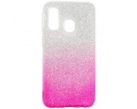 Husa Spate Upzz Shiny Lux Samsung Galaxy A30 Transparent Roz
