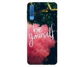 Husa Silicon Soft Upzz Print Samsung Galaxy A7 2018 Model Be Yourself