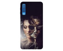 Husa Silicon Soft Upzz Print Samsung Galaxy A7 2018 Model Carnaval