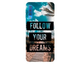 Husa Silicon Soft Upzz Print Samsung Galaxy A7 2018 Model Dreams