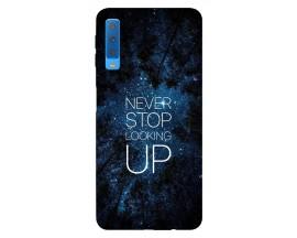 Husa Silicon Soft Upzz Print Samsung Galaxy A7 2018 ModelNever Stop