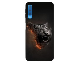 Husa Silicon Soft Upzz Print Samsung Galaxy A7 2018 Model Tiger