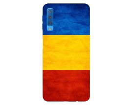 Husa Silicon Soft Upzz Print Samsung Galaxy A7 2018 Model Tricolor