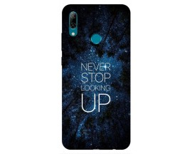 Husa Silicon Soft Upzz Print Huawei P Smart 2019 Model Never Stop