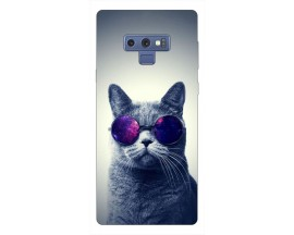 Husa Silicon Soft Upzz Print Samsung Galaxy Note 9 Model Cool Cat
