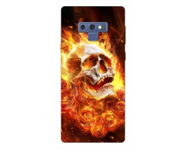 Husa Silicon Soft Upzz Print Samsung Galaxy Note 9 Model Flame Skull