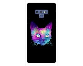 Husa Silicon Soft Upzz Print Samsung Galaxy Note 9 Model Neon Cat