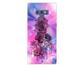 Husa Silicon Soft Upzz Print Samsung Galaxy Note 9 Model Neon Rose