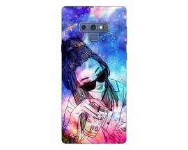 Husa Silicon Soft Upzz Print Samsung Galaxy Note 9 Model Universe Girl