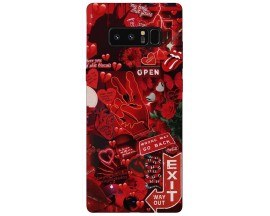 Husa Silicon Soft Upzz Print Samsung Galaxy Note 8 Model Exit