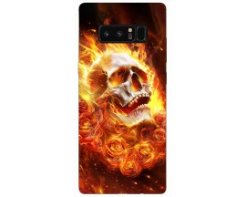 Husa Silicon Soft Upzz Print Samsung Galaxy Note 8 Model Flame Skull