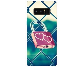 Husa Silicon Soft Upzz Print Samsung Galaxy Note 8 Model Heart Lock